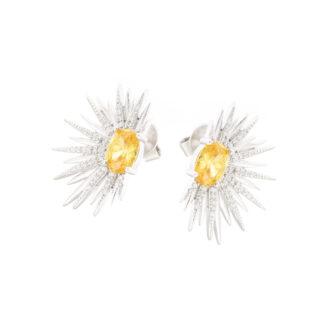 Citrine Sun Earrings